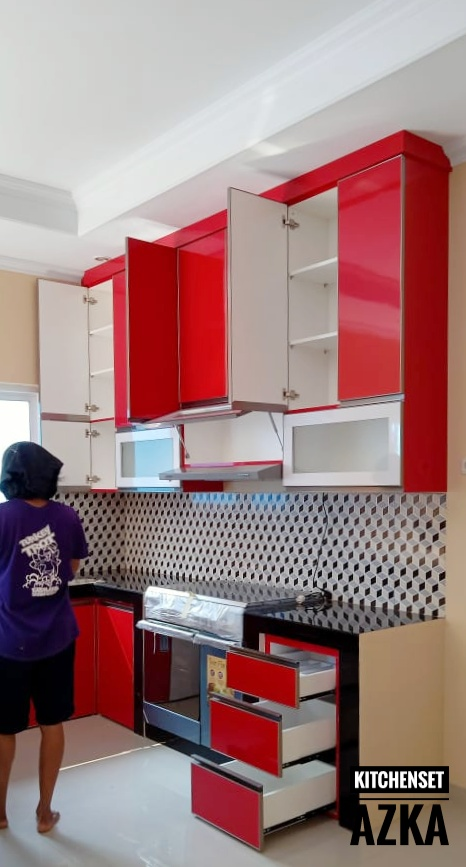 Kitchen Set Hpl Merah